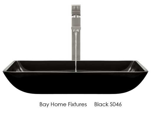 the 046 glass vessel sink is manufactured using fully tempered glass which is non porous easy to clean and resistant to stains and odors - Glass Sink Kitchen