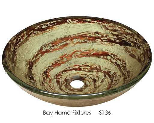 Glass sink S136 - Bay Home Fixtures